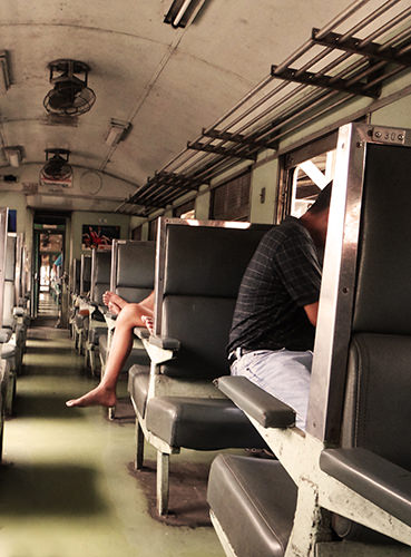 Quiet Times #16 by Jeremy Chin - Train Ride To River Kwai, Thailand