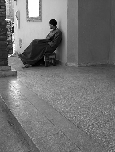 Quiet Times #29 by Jeremy Chin - Man Watching The World Go By, Marrakesh, Morocco