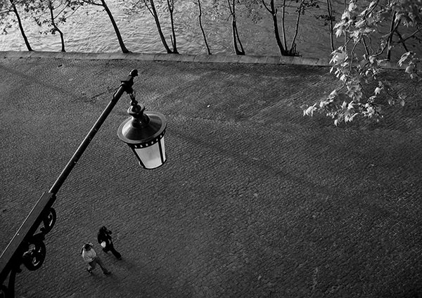 Quiet Times #39 by Jeremy Chin - Evening Walk by the Seine, Paris, France