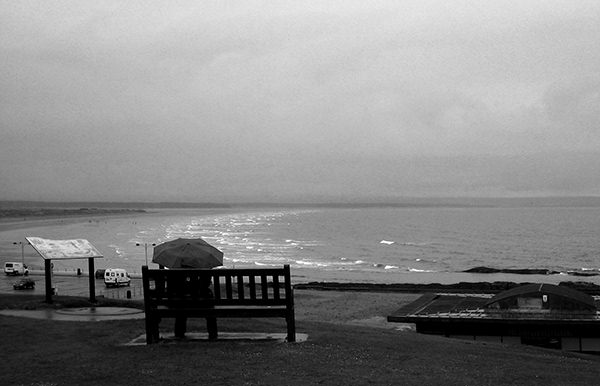 Quiet Times #43 by Jeremy Chin - Rain Day at St Andrews, Scotland