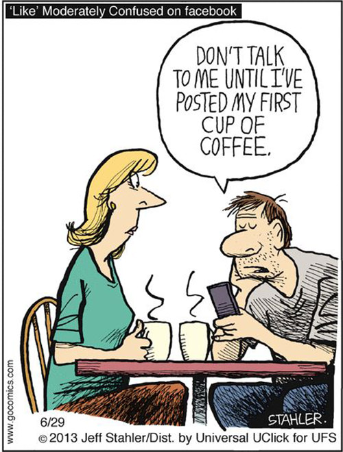 Coffee #82: Don't talk to me until I've posted my first cup of coffee.
