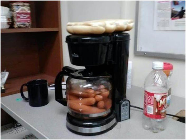 Coffee #139: Cooking sausages with your coffee maker.