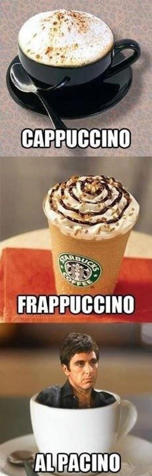 Coffee #152: Cappuccino. Frappucino. Al Pacino.