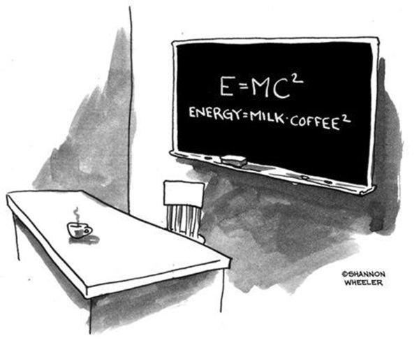 Coffee #187: E=MC2. Energy = Milk & Coffee