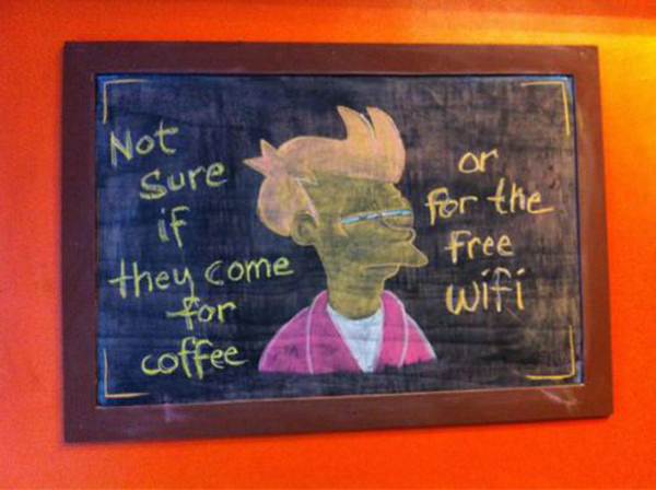 Coffee #228: Not sure if they come for coffee or for the free Wifi.