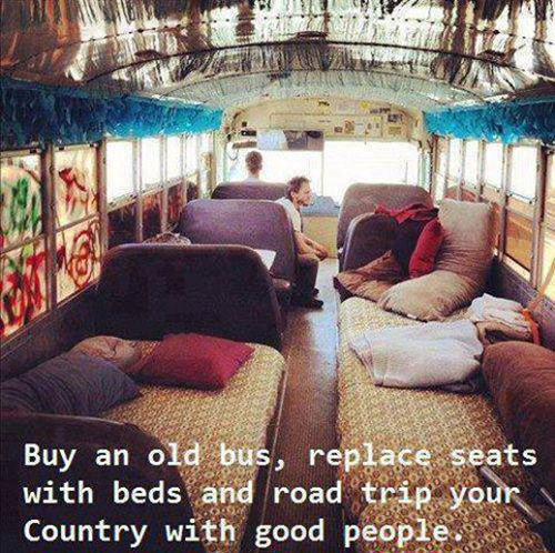 Favorite Things #3: Buy an old bus, replace seats with beds and road trip your country with good people.