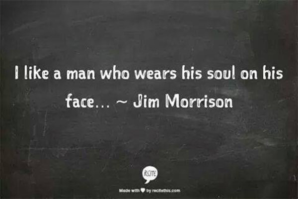 Favorite Things #15: I like a man who wears his soul on his face.