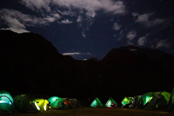 Favorite Things #23: Camping the night before the August 2014 Inca Trail Marathon . The Southern Cross is clearly visible