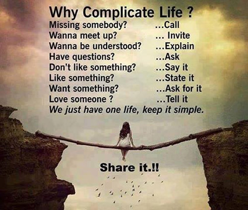 Friendship #7: Why complicate life?