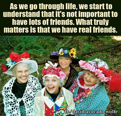 Friendship #46: As we go through life, we start to understand that it's not important to have lots of friends. What truly matters is that we have real friends.