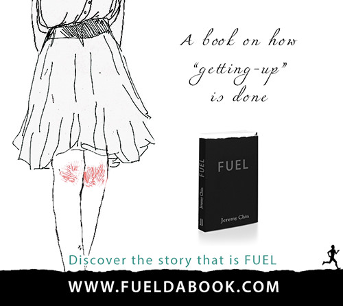 Fuel Posters #9: A book on how getting up is done.