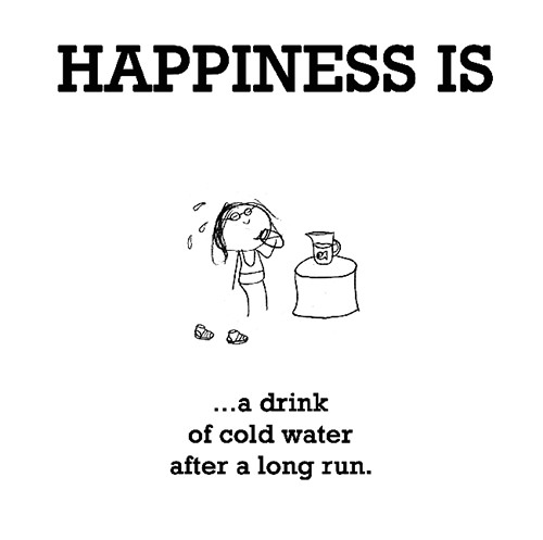 Happiness #178: Happiness is a drink of cold water after a long run.