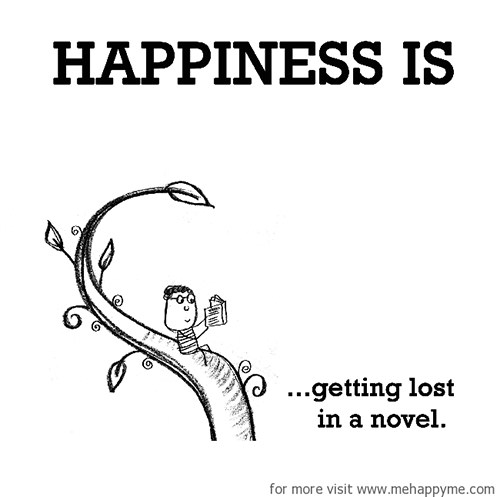 Happiness #192: Happiness is getting lost in a novel.
