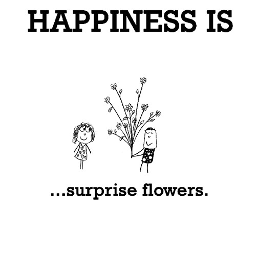 Happiness #200: Happiness is surprise flowers.
