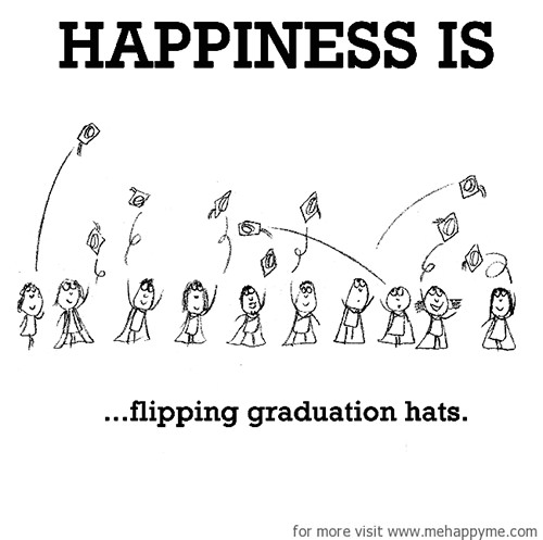 Happiness #221: Happiness is flipping graduation hats.