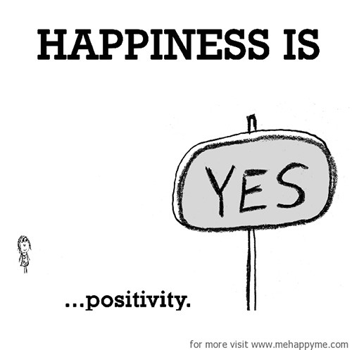 Happiness #222: Happiness is positivity.