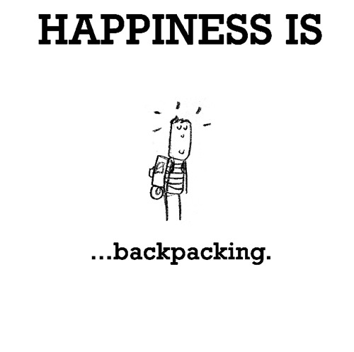 Happiness #242: Happiness is backpacking.