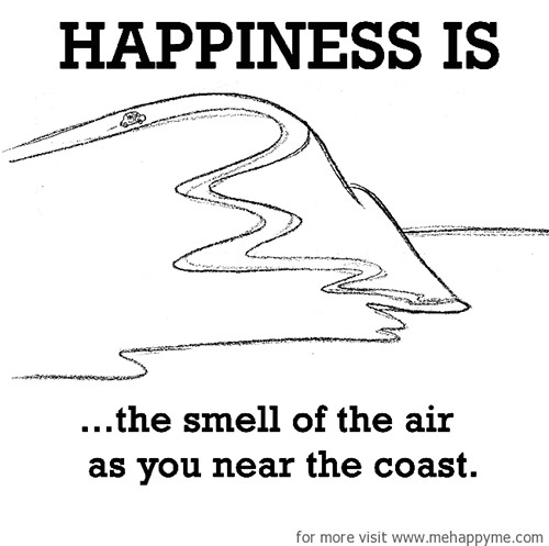 Happiness #252: Happiness is the smell of the air as you near the coast.