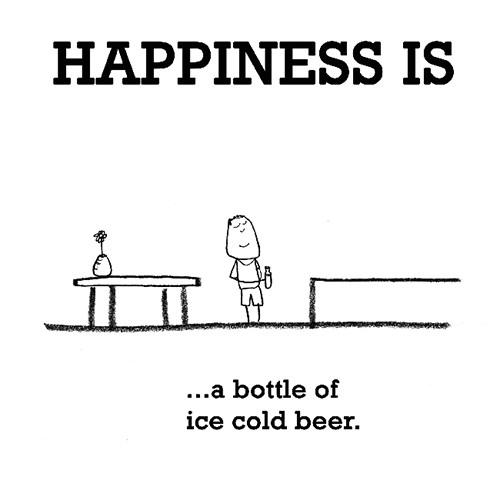 Happiness #283: Happiness is a bottle of ice cold beer.