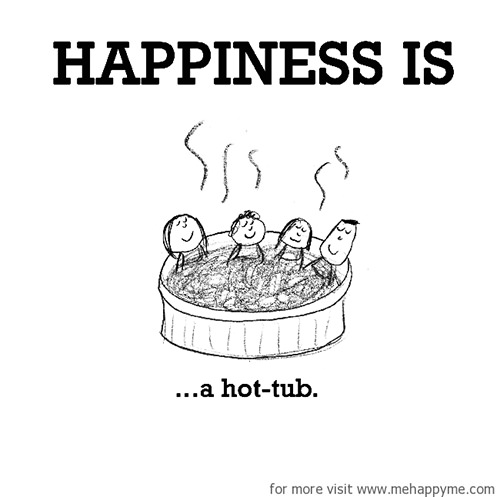 Happiness #291: Happiness is a hot tub.