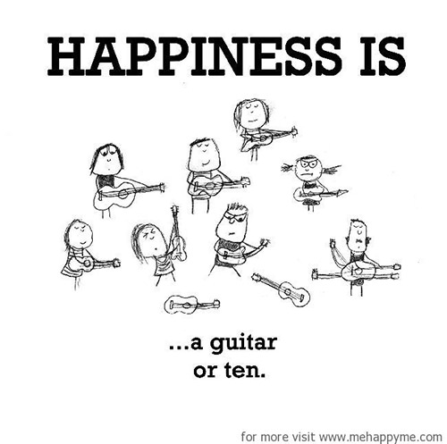 Happiness #297: Happiness is a guitar or ten.