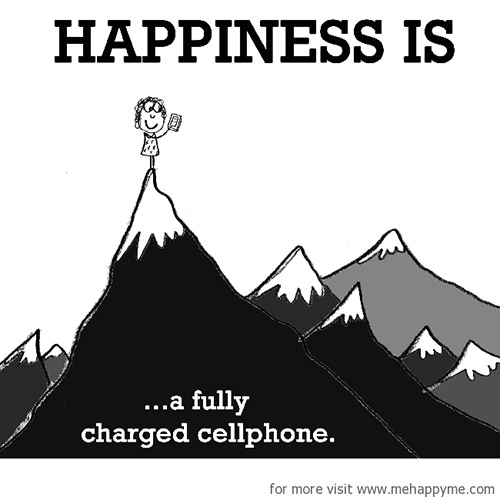 Happiness #298: Happiness is a fully charged cellphone.