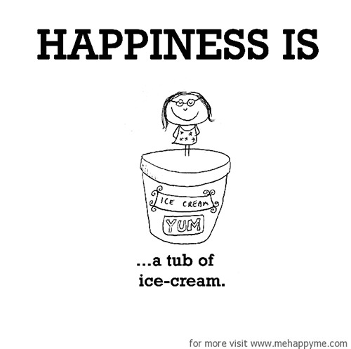 Happiness #301: Happiness is a tub of ice cream.