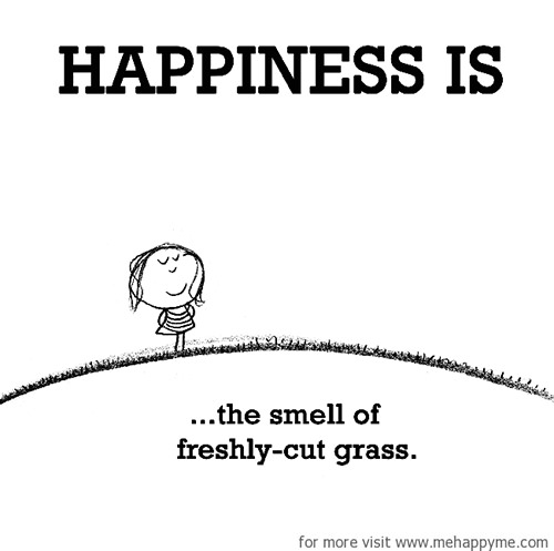 Happiness #305: Happiness is the smell of freshly cut grass.