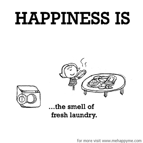 Happiness #338: Happiness is the smell of fresh laundry.