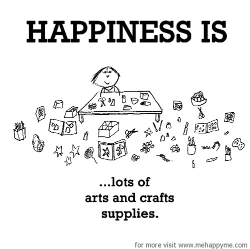 Happiness #352: Happiness is lost of arts and crafts supplies.