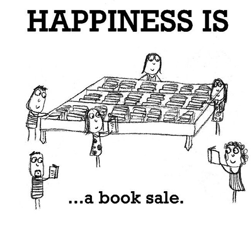 Happiness #353: Happiness is a book sale.
