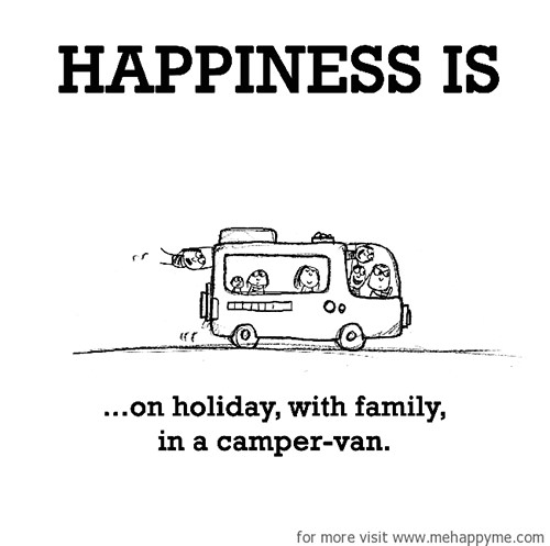 Happiness #361: Happiness is on holiday with family in a camper-van.
