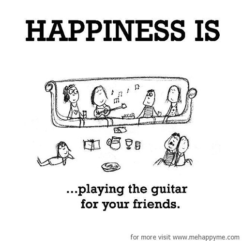 Happiness #388: Happiness is playing the guitar for your friends.