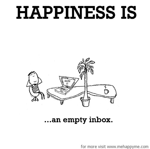 Happiness #413: Happiness is an empty inbox.