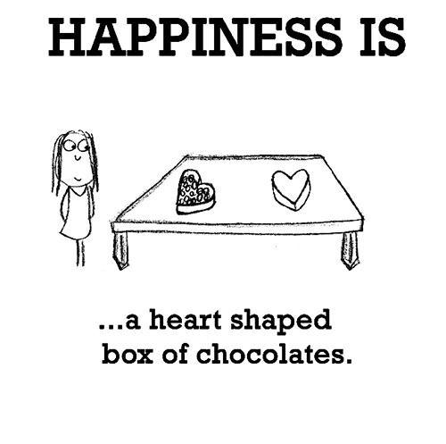 Happiness #451: Happiness is a heart-shaped box of chocolates.
