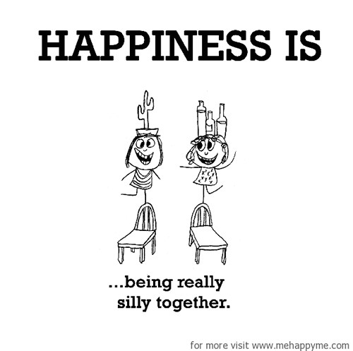 Happiness #459: Happiness is being really silly together.