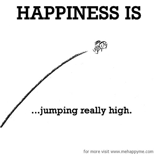 Happiness #500: Happiness is jumping really high.