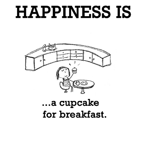Happiness #506: Happiness is a cupcake for breakfast.