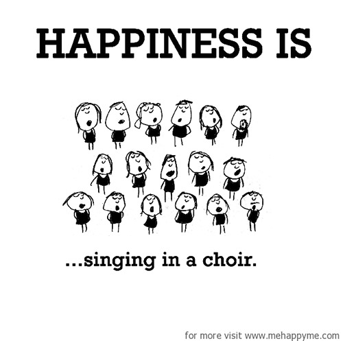Happiness #517: Happiness is singing in the choir.