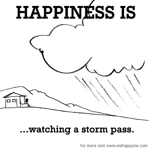 Happiness #533: Happiness is watching a storm pass.