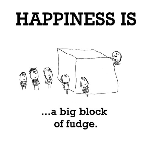 Happiness #573: Happiness is a big block of fudge.