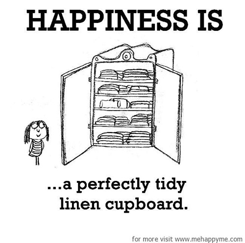 Happiness #579: Happiness is a perfectly tidy linen cupboard.