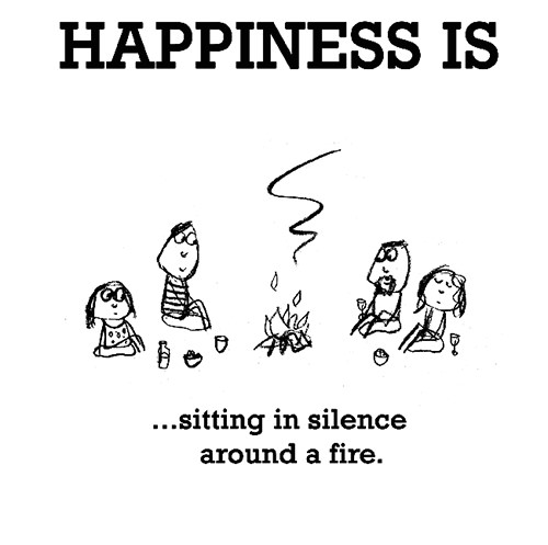 Happiness #588: Happiness is sitting in silence around a fire.