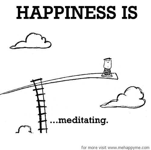 Happiness #609: Happiness is meditating.