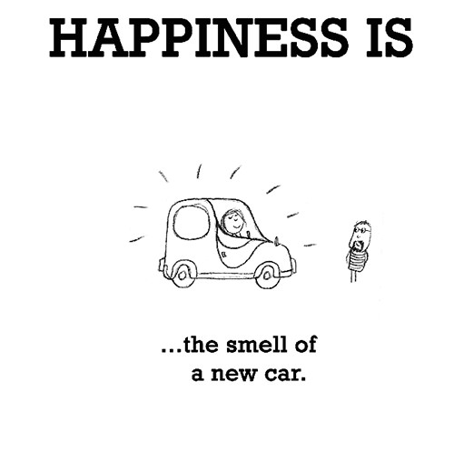 Happiness #611: Happiness is the smell of a new car.