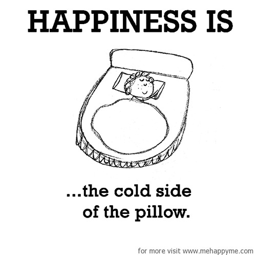 Happiness #620: Happiness is the cold side of the pillow.