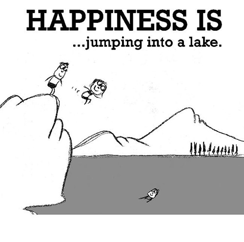 Happiness #630: Happiness is jumping into a lake.