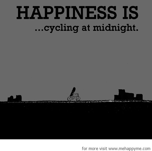 Happiness #658: Happiness is cycling at midnight.