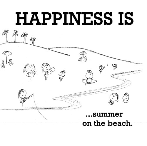 Happiness #679: Happiness is summer on the beach.