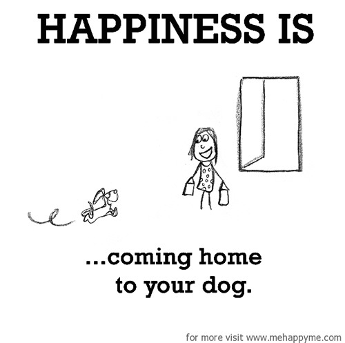 Happiness #680: Happiness is coming home to your dog.